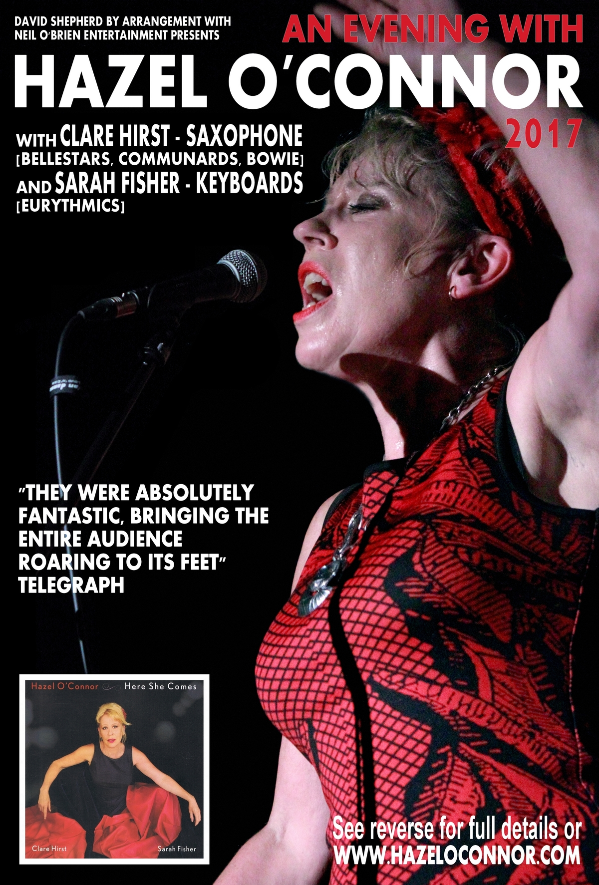An Evening With Hazel OConnor 2017 - Front