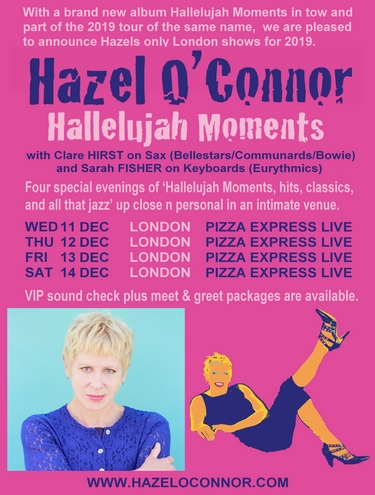 Hazel O'Connor Hallelujah Moments 2019