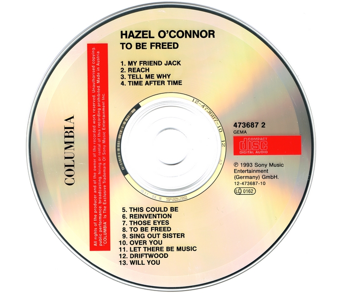 Hazel O'Connor - To Be Freed - Disk
